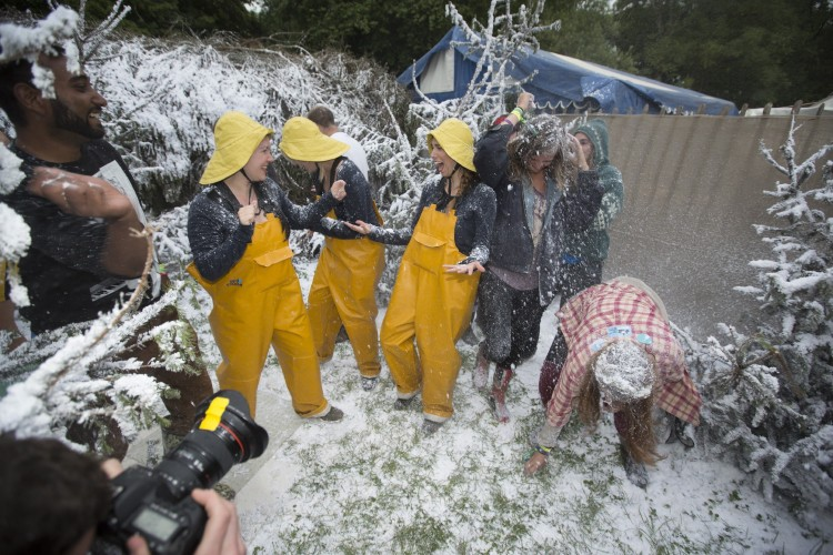 Credit: ©Rose Sjölander/Greenpeace - Snow Ball Fight